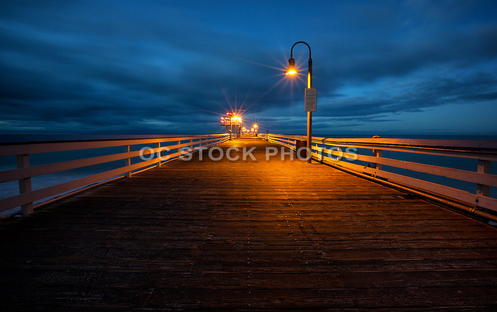 San Clemente Municipal Pier At Night