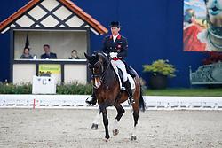 FAURIE Emile (GBR), Quentano<br /> Hagen - Horses and Dreams meets the Royal Kingdom of Jordan 2018<br /> Prix St Georges<br /> 25 April 2018<br /> www.sportfotos-lafrentz.de/Stefan Lafrentz