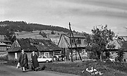 Osiedle romskie w Bukowine Tatrzańskiej Dolnej, 1978 rok.