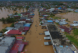 April 27, 2019 - Bengkulu, Bengkulu, Indonesia - BENGKULU, INDONESIA - APRIL 29 : A view of floods in Bengkulu, Indonesia on April 28, 2019. Indonesia National Disaster Management Agency said 13 thousand people were displaced due to flooding in Bengkulu Province. (Credit Image: © Sijori Images via ZUMA Wire)