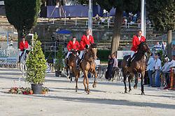 Team Belgium<br /> Ludo Philippaerts (BEL) - Challenge van de Begijnakker<br /> Olivier Philippaerts (BEL) - Cabrio vd Heffinck<br /> Nicola Philippaerts (BEL) - Carlos VHPZ<br /> Jos Lansink (BEL) - Cavalor Valentina van 't Heike <br /> FEI Nations Cup of Rome 2012<br /> © Hippo Foto - Beatrice Scudo