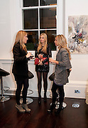 Olivia Innocenti; Kimberley Jaraj; Bianca Ladow;, Gino Hollander exhibition, Also a chance to see  the flat at 105-106 Lancaster Gate which is for sale. London. 4 February 2010.