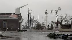 October 10, 2018 - Port St Joe, Florida, U.S. - The First Baptist Church of Port St Joe was significantly damaged and water remains on the street near the church on Wednesday afternoon after Hurricane Michael made landfall in the Florida Panhandle. Hurricane Michael formed off the coast of Cuba with catastrophic winds at 155mph. (Credit Image: © Douglas R. Clifford/Tampa Bay Times via ZUMA Wire)