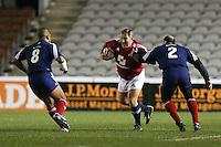 Rugby Union - 2012 Rugby Legends Match - British & Irish Legends vs. French Legends.Jason Leonard runs at the French legends at Twickenham Stoop, London