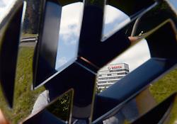 September 7, 2016 - Gerlingen, Baden-Württemberg, Germany - ILLUSTRATION - A Volkswagen logo in front of the headquarters of Bosch in Gerlingen, Germany, 7 September 2016. PHOTO: FRANZISKA KRAUFMANN/dpa (Credit Image: © Franziska Kraufmann/DPA via ZUMA Press)