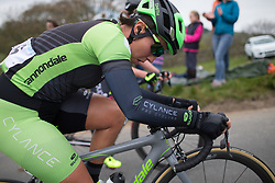 Marta Tagliaferro (ITA) of Cylance Pro Cycling climbs up the Cote de Lofthouse during the Tour de Yorkshire - a 122.5 km road race, between Tadcaster and Harrogate on April 29, 2017, in Yorkshire, United Kingdom.