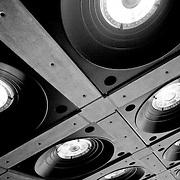 Lloyds building ceiling light grid, London, England (September 2007)