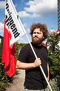 Festa della Linke a Potsdam. Nella foto ritratti di militanti e simpatizzanti.