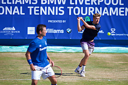 LIVERPOOL, ENGLAND - Sunday, June 24, 2018: Adam Jones (GBR) during day four of the Williams BMW Liverpool International Tennis Tournament 2018 at Aigburth Cricket Club. (Pic by Paul Greenwood/Propaganda)