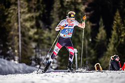03.03.2019, Seefeld, AUT, FIS Weltmeisterschaften Ski Nordisch, Seefeld 2019, Langlauf, Herren, 50 km Massenstart, im Bild Mika Vermeulen (AUT) // Mika Vermeulen of Austria during the men's cross country 50 km mass start competition of FIS Nordic Ski World Championships 2019. Seefeld, Austria on 2019/03/03. EXPA Pictures © 2019, PhotoCredit: EXPA/ JFK