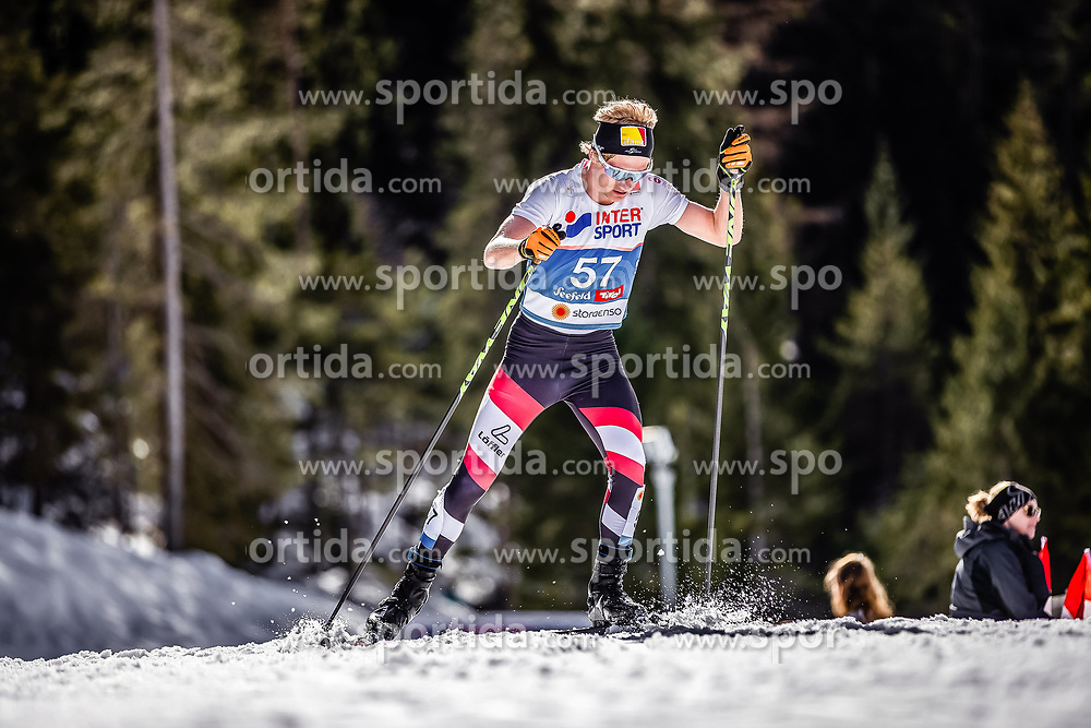 03.03.2019, Seefeld, AUT, FIS Weltmeisterschaften Ski Nordisch, Seefeld 2019, Langlauf, Herren, 50 km Massenstart, im Bild Mika Vermeulen (AUT) // Mika Vermeulen of Austria during the men's cross country 50 km mass start competition of FIS Nordic Ski World Championships 2019. Seefeld, Austria on 2019/03/03. EXPA Pictures © 2019, PhotoCredit: EXPA/ JFK