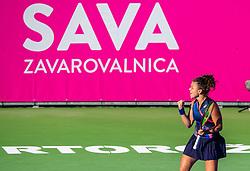 PORTOROZ, SLOVENIA - SEPTEMBER 18: Jasmine Paolini of Italy during the Semifinals of WTA 250 Zavarovalnica Sava Portoroz at SRC Marina, on September 18, 2021 in Portoroz / Portorose, Slovenia. Photo by Nik Moder / Sportida