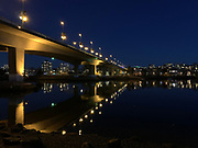 A night shot taken with my iPhone of Cambie Bridge, Vancouver