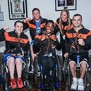 London,England,UK. 14th May 2017. Wheelchair basketball teams at the BBL Play-Off Finals also fundraising for Hoops Aid 2017 but also a major fundraising opportunity for the Sports Traider Charity at London's O2 Arena, UK. by See Li