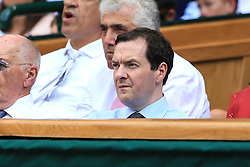 6 July 2017 -  Wimbledon Tennis (Day 4) - George Osbourne watches the tennis from the royal box - Photo: Marc Atkins / Offside.