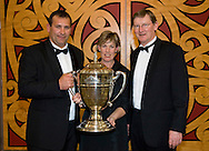 Kristen and Dean Nikora with  from the BNZ. Winners of the Ahuwhenua Trophy - Bank of New Zealand Maori Excellence in Farming Award ceremony held at the Rotorua Event Centre, Rotorua, New Zealand, June 06 2008.<br /> <br /> MANDATORY CREDIT ©ALPHAPIX/John Cowpland.<br /> <br /> www.alphapix.co.nz<br /> info@alphapix.co.nz<br /> phone: 0272 533464