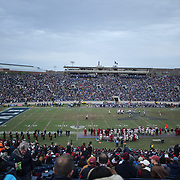 NEW HAVEN, CONNECTICUT - NOVEMBER 18: A general view of Yale Bowl during the Yale V Harvard, Ivy League Football match at the Yale Bowl. Yale won the game 24-3 to win their first outright league title since 1980. The game was the 134th meeting between Harvard and Yale, a historic rivalry that dates back to 1875. New Haven, Connecticut. 18th November 2017. (Photo by Tim Clayton/Corbis via Getty Images)