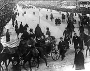 William Howard Taft (1857-1930) 27th President of the United States of America 1909-1913. Taft and his wife riding through Washington in an open carriage on his inauguration day.