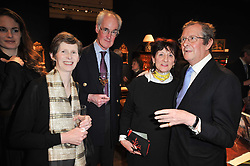 Left to right, SIR JOCELYN & LADY GORE-BOOTH, the HON.JANE ORMSBY GORE and the Knight of Glin DESMOND FITZGERALD at a party to celebrate the publication of The irish Country House written by The Knight of Glin and James Peill with photographs by James Fennell, held at Christie's, King Street, London on 24th January 2011.