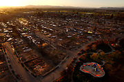 The Coffey Park neighborhood seen from a UAV from Coffey Lane and Dogwood Drive, Thursday, March 22, 2018, in Santa Rosa, Calif. The area was devastated by last year's Tubbs Fire.