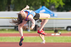 Liza Zvokelj competes during day 1 of Slovenian Athletics Cup 2019, on June 15, 2019 in Celje, Slovenia. Photo by Peter Kastelic / Sportida