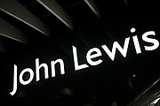 Sign for the department store brand John Lewis in Birmingham, United Kingdom.