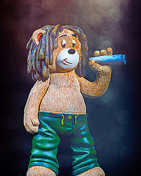 Weed loving Marley loves nothing than playing cricket and jammin... He hopes you like jammin too. Marley is a Bad Taste Bear with a Hippie and smoky view on life. He would love to occupy a space on your wall!