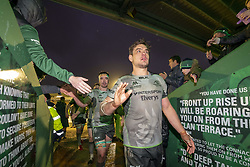 December 8, 2018 - Galway, Ireland - Quinn Roux of Connacht celebrates during the European Rugby Challenge Cup match between Connacht Rugby and Perpignan at the Sportsground in Galway, Ireland on December 8, 2018  (Credit Image: © Andrew Surma/NurPhoto via ZUMA Press)