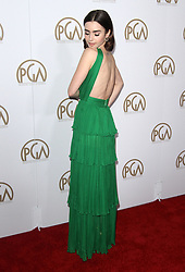 January 28, 2017 - Los Angeles, CA, United States - 28 January 2017 - Los Angeles, California - Lily Collins. 2017 Producers Guild Awards held at The Beverly Hilton Hotel. Photo Credit: AdMedia (Credit Image: © AdMedia via ZUMA Wire)