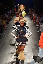 Models on the runway during the Desigual Fashion Show at New York Fashion Week Spring Summer 2018 held in New York, NY on September 7, 2017. (Photo by Jonas Gustavsson/Sipa USA)