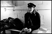 """Fall River, Masaschusetts - 18 February 1968. Jim """"Motorhead"""" Sherwood of The Mothers of Invention prior to a performance. © 2020 Ed Lefkowicz<br /> <br /> For licensing of any of the images in this portfolio go to https://www.mptvimages.com/<br /> <br /> For fine art prints, get in touch with me directly."""