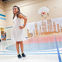 070513       Cable Hoover<br /> <br /> Savannah Ignacio strikes a pose at the end of the runway during the 3rd annual Boys and Girls Club fashion show at the Boys and Girls Club in Gallup Friday.