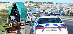SOUTH AFRICA - Cape Town - 15 July  2020  - A taxi driver has been admitted in hospital after the taxi he was driving collided with 7 horses in Baden Powell near Makhaza.All 7 horses were killed,the road was closed for few hours this morning. Picture: Phando Jikelo/African News Agency(ANA)