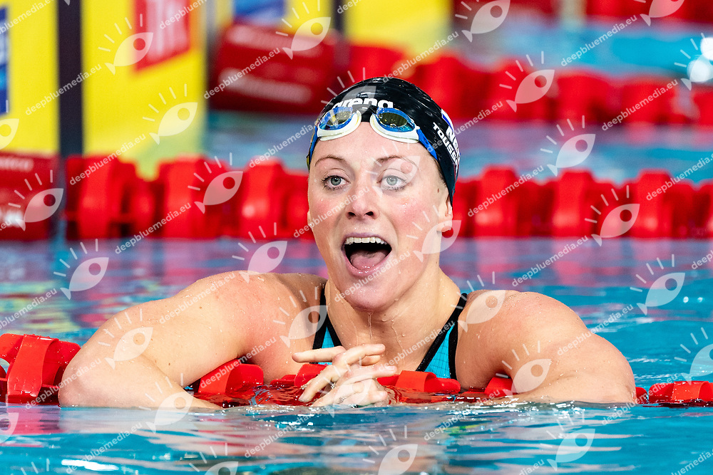 TOUSSAINT Kira Netherlands NED Gold Medal<br /> 50 backstroke women Final<br /> Glasgow 07/12/2019<br /> XX LEN European Short Course Swimming Championships 2019<br /> Tollcross International Swimming Centre<br /> Photo  Giorgio Scala / Deepbluemedia / Insidefoto