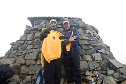 Iain King at the top..The John Hartson Foudation walk up Ben Nevis..Pic ©2010 Michael Schofield. All Rights Reserved.
