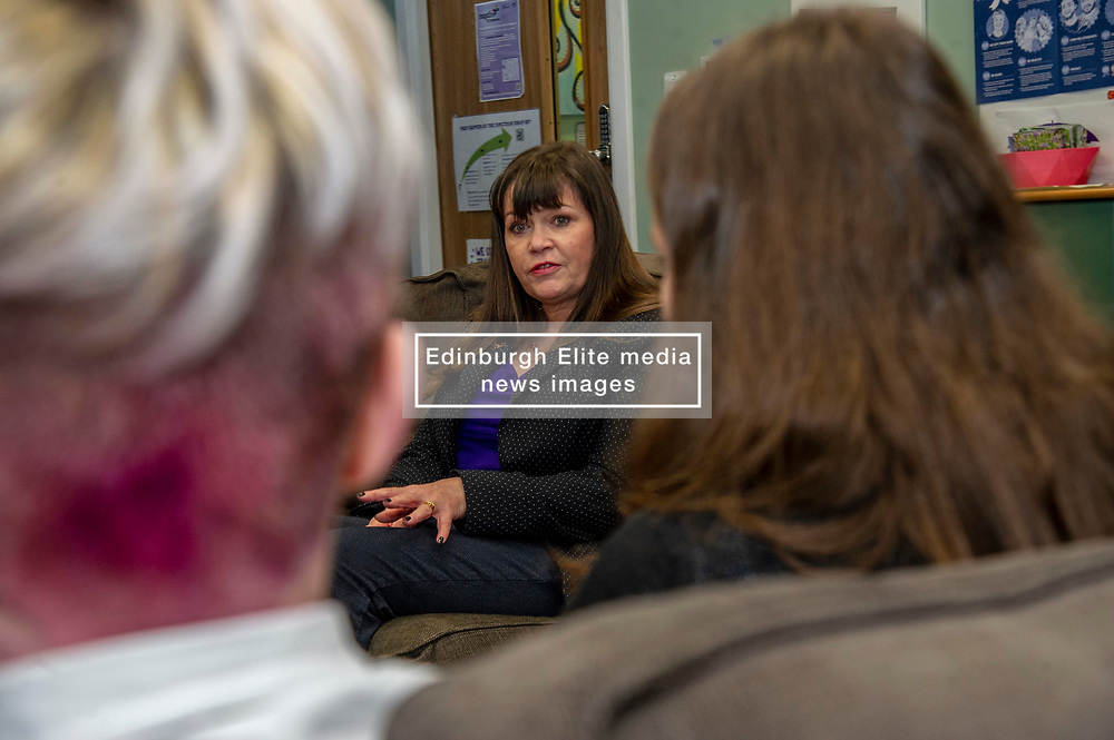 Pictured: Clare Haughey<br />Mental Health Minister Clare Haughey visisted the Junction in Edinburgh today to announce extra funding for young people mental health staff.  The Junction centre provides care and support to young people from north Edinburgh. Ms Haughey announced funding for Child and Adolescent Mental Health Services (CAMHS) <br /><br />Ger Harley| EEm 19 December 2018