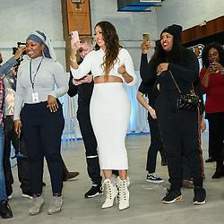 La La Anthony Hosts Winter Wonderland Event The Gauchos Gym, Bronx, NY. 21 Dec 2017 Pictured: La La Anthony. Photo credit: RCF / MEGA TheMegaAgency.com +1 888 505 6342