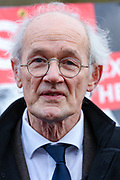 Julian Assange's father John Shipton speaks to the media after visiting Julian Assange at HMP Belmarsh in London on Sunday, Feb. 23, 2020. (Photo/Vudi Xhymshiti)