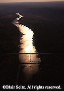 Delaware River, PA and NJ, aerial, Dingman's Crossing