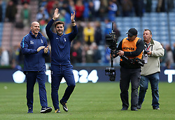 Tottenham Hotspur manager Mauricio Pochettino reacts after the final whistle during the Premier League match at the John Smith's Stadium, Huddersfield.