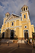 Cathedral of Nuestra Senora de la Candelaria in Plaza Colon, Mayaguez Puerto Rico