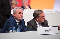 DEU, Deutschland, Germany, Leipzig, 22.11.2019: Thomas Strobl (CDU) und Armin Laschet (CDU) beim Bundesparteitag der CDU in der Messe Leipzig.