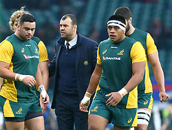 November 24, 2018 - London, England, United Kingdom - London, UK, 24 November, 2018.Australia's Coach Michael Cheika.during Quilter International between England  and Australia at Twickenham stadium , London, England on 24 Nov 2018. (Credit Image: © Action Foto Sport/NurPhoto via ZUMA Press)