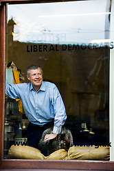 """Pictured: Willie Rennie<br /> <br /> Scottish Liberal Democrat leader Willie Rennie made his final pitch for votes today as he unveiled large building blocks that spelt out the party's flagship """"Penny for education"""" policy. Scottish Liberal Democrats HQ, 4, EH12 5DR. Adam Clarke 07450 980 386.the election on Thursday.<br /> <br /> Ger Harley 