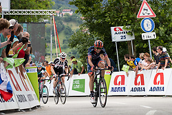 Marco Canola of Nippo Vinni Fantini Europa Ovini and Michael Storer of Sunweb at Finish line during 3rd Stage of 25th Tour de Slovenie 2018 cycling race between Slovenske Konjice and Celje (175,7 km), on June 15, 2018 in  Slovenia. Photo by Matic Klansek Velej / Sportida