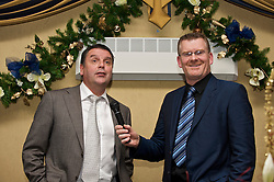 LIVERPOOL, ENGLAND - Friday, November 27, 2009: Graeme Sharp and Darren Griffiths at the Health Through Sport charity dinner at the Devonshire House. (Photo by David Rawcliffe/Propaganda)