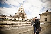 Stock  / Young couple in front of Napoleons Tomb.