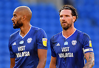 Football - 2019 / 2020 Sky Bet (EFL) Championship - Cardiff City vs. Hull City<br /> <br /> Cardiff City's Sean Morrison (right) with Curtis Nelson, at the Cardiff City Stadium.<br /> <br /> COLORSPORT/ASHLEY WESTERN