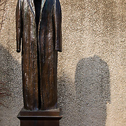 Judith Shea's bronze sculpture titled Post-Balzac is on display in the sculpture garden of the Hirshhorn Museum, part of the Smithsonian Institution in Washington, DC