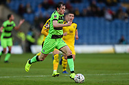 Forest Green Rovers Theo Archibald(18) runs forward during the The FA Cup 1st round match between Oxford United and Forest Green Rovers at the Kassam Stadium, Oxford, England on 10 November 2018.